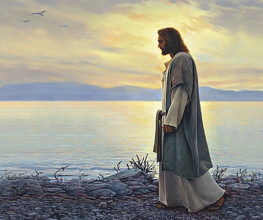 The Savior Walking Along the Sea